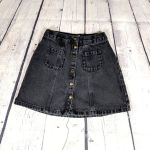 BDG Urban Outfitters Black Button Up Denim Skirt